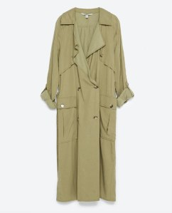 flowing trench coat 119.00
